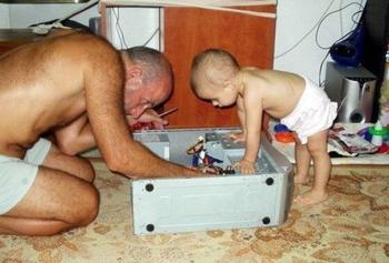 Забавные последствия отцовского воспитания детей