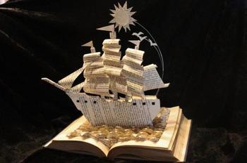 Оригинальные скульптуры из книг