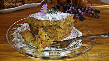 Морковный торт с грушей