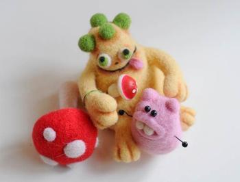 Сухое валяние игрушек из шерсти