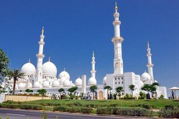 Дубай - современная сказка Шахерезады 17. Белая мечеть шейха Зайда в Абу-Даби