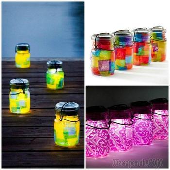 Садовые светильники, которые можно сделать своими руками