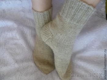 """Вязаные шерстяные носки с """"запаской"""""""