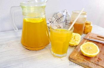 Очень полезный витаминный ИМБИРНЫЙ НАПИТОК с лимоном и медом.