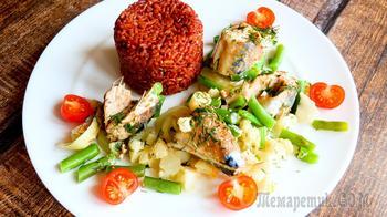 Сочная скумбрия с овощами