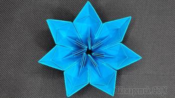 Красивый оригами цветок 🌼 Цветы из бумаги
