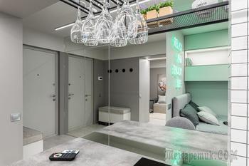 Как в стильной «холостяцкой берлоге» кухню заменили на спальное место