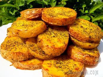 Рецепт испанской тётушки! Самый лучший запеченный картофель в духовке с чесноком и укропом!