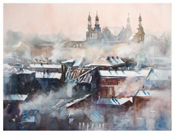 Польский художник-акварелист Michal Jasiewicz