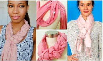 Наглядные фотоинструкции, как красиво завязать шарф, платок и палантин
