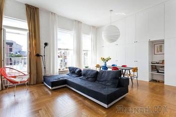 Дизайн квартиры с высокими потолками 64 кв. м.