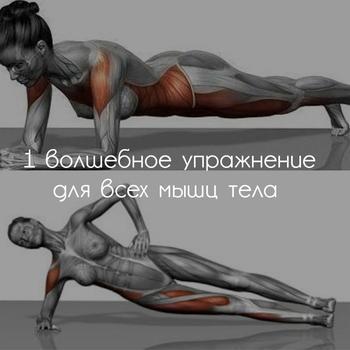 1 волшебное упражнение подтянет все мышцы вашего тела — потрясающе быстрый результат!
