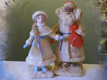 Снегурочка под ёлку: как сделать классическую ватную игрушку на каркасе