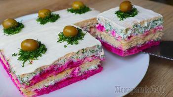 Закусочный торт Новинка! Без добавки не обойтись!