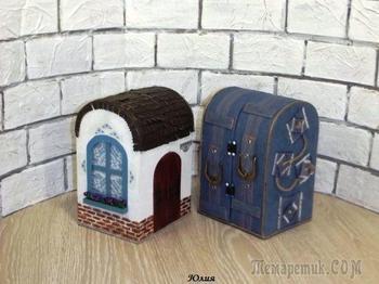 Делаем домик-кофр для игрушки