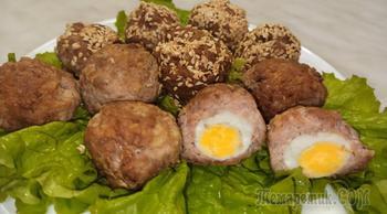 Вкусная закуска - перепелиные яйца в мясном фарше
