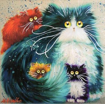 Забавные кошки Ким Хаскинс, чтобы утро было по-настоящему позитивным!