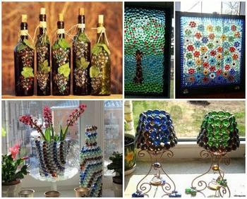 Цветные стеклянные шарики для украшения дома