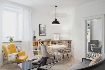 Квартира в послевоенном стиле для молодой семьи