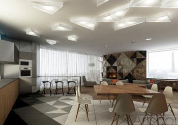 Интерьер квартиры студии 228 кв. м.