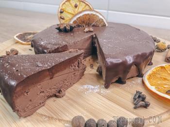 Очень вкусный шоколадный чизкейк из 3-х ингредиентов без выпечки