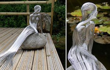 Изящные проволочные скульптуры от Мартина Дебенгема