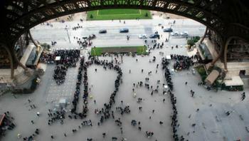 Париж: вид с Эйфелевой башни