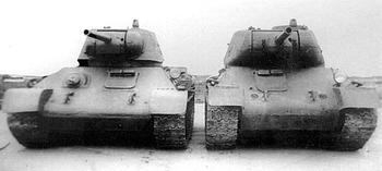 В тени «тридцатьчетверки» – танки Александра Морозова Т-43 и Т-44