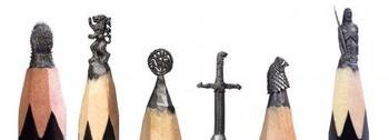 Скульптуры из карандашей