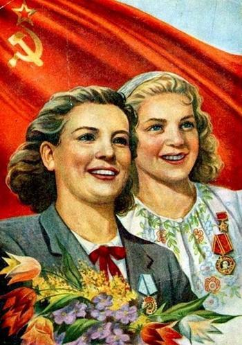 Советские открытки «С праздником 8 Марта!»