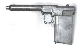 50 патронов в рукоятке, самозарядный пистолет Х. Суннгорда