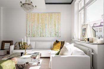 Двухуровневая квартира в Швеции со стеклянным потолком