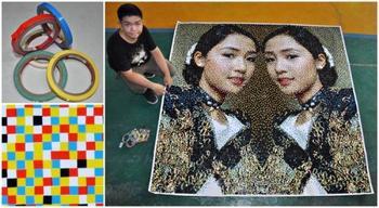 Филиппинский художник создает удивительные портреты из самых неожиданных предметов