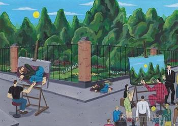 Иллюстрации Брехта Ванденбрука, обнажающих темную сторону современного общества