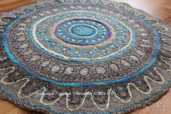 Как свалять уютный ковёр-мандалу в эко-стиле