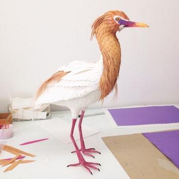 Бумажные птицы художницы Дианы Бельтран
