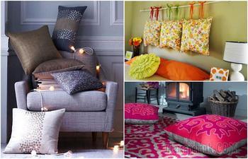 15 гениальных идей, как с помощью декоративных подушек преобразить любой интерьер