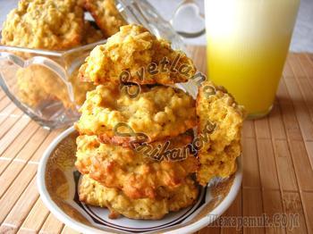 Овсяно-тыквенное печенье - полезный десерт!
