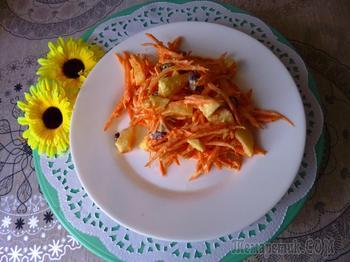 Салат из моркови и яблок