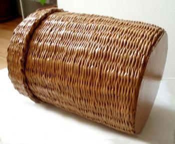 Плетём короб с крышкой