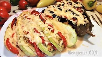 Запеченные овощи в духовке в виде веера