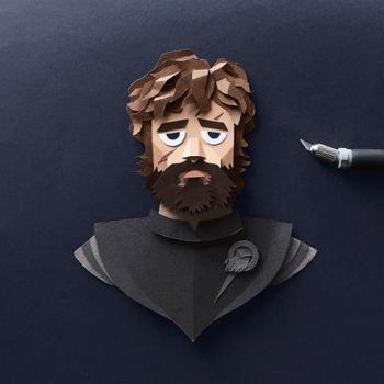 """Персонажи """"Игры престолов"""", вырезанные из бумаги"""