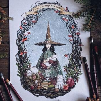 Сказочные иллюстрации Лии Селиной