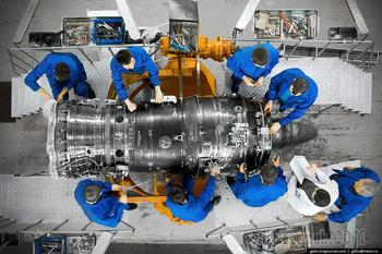 Производство авиационных двигателей