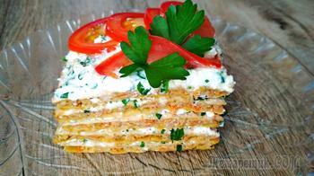 Шикарный мясной торт с брынзой и зеленью!