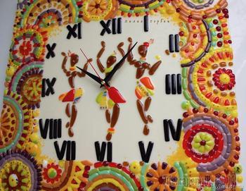 Изготавливаем часы «Африка» в технике фьюзинг