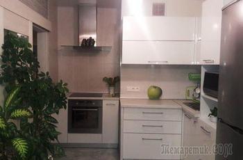 """Кухня: живая зеленая """"стена"""" и аквариум"""