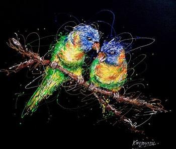 Медсестра-художница пишет картины шприцами, наполненными красками