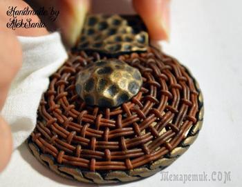 Круговое плетение из полимерной глины