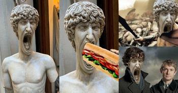 Повод для мема: кричащая статуя в Италии взорвала интернет